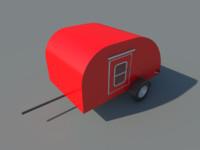 teardrop camper 3d max