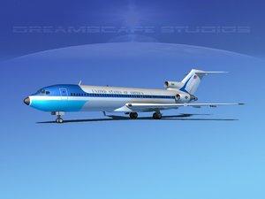 turbines c-22b boeing 727-200 3d max