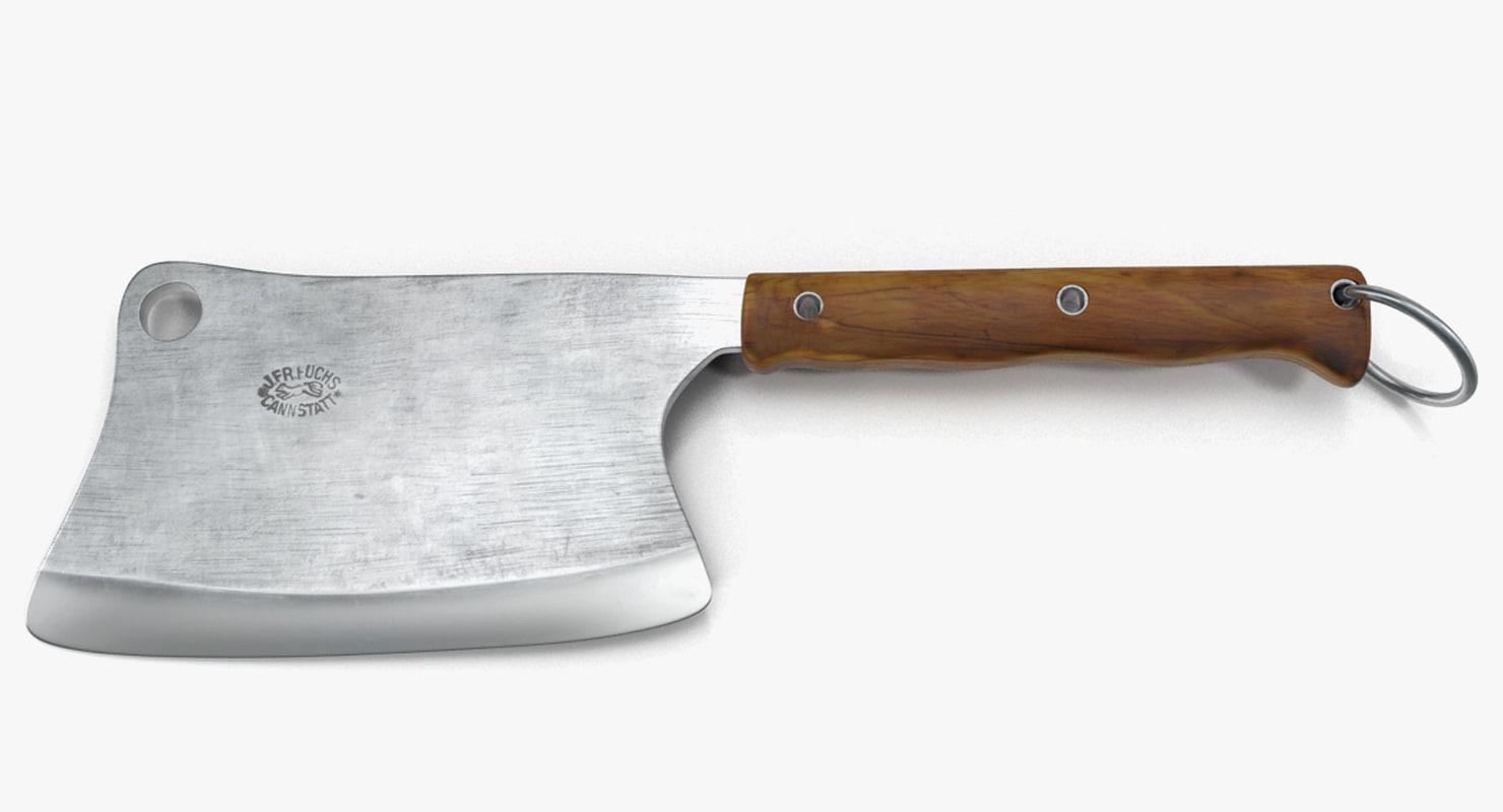 3d kitchen hatchet knife meat
