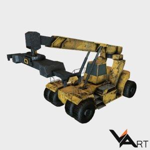 reach stacker 3d model
