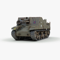ww2 sexton artillery 3d max