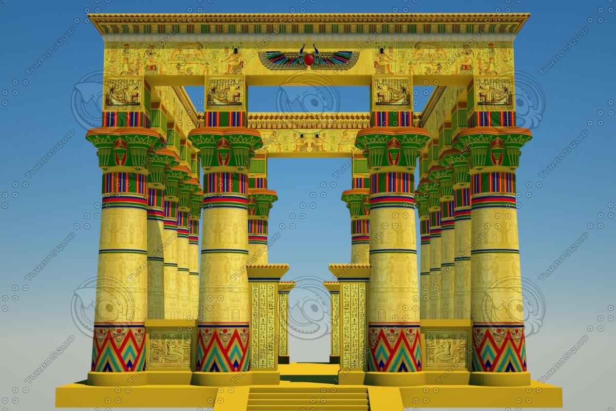 c4d egyptian temple