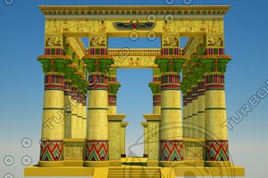 c4d egyptian temple