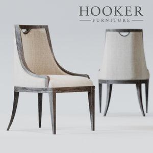 hooker chair 3d max