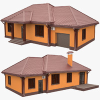 private building exterior 3d model