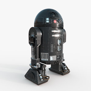 star wars c2-b5 droid 3d obj