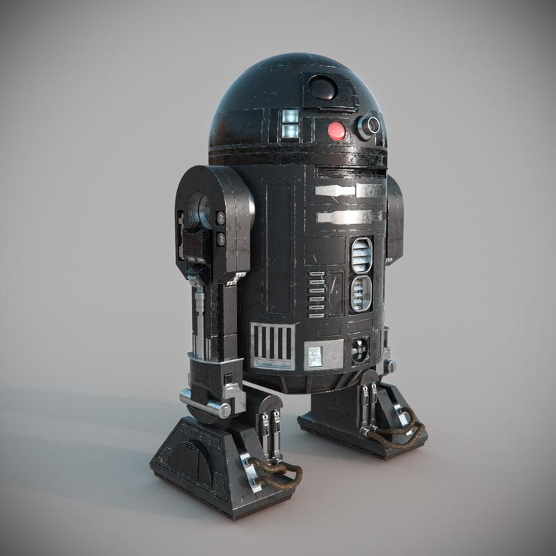 star wars c2-b5 droid 3d obj