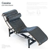 cassina lc4 villa 3d max