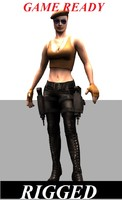 female games 3d model