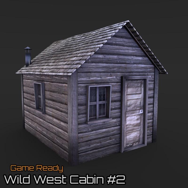 3d ready cabin model