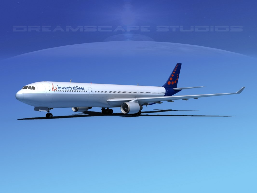 3d airbus a330-300 a330 airliners