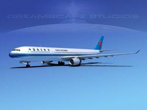 3d airbus a330-300 a330 model