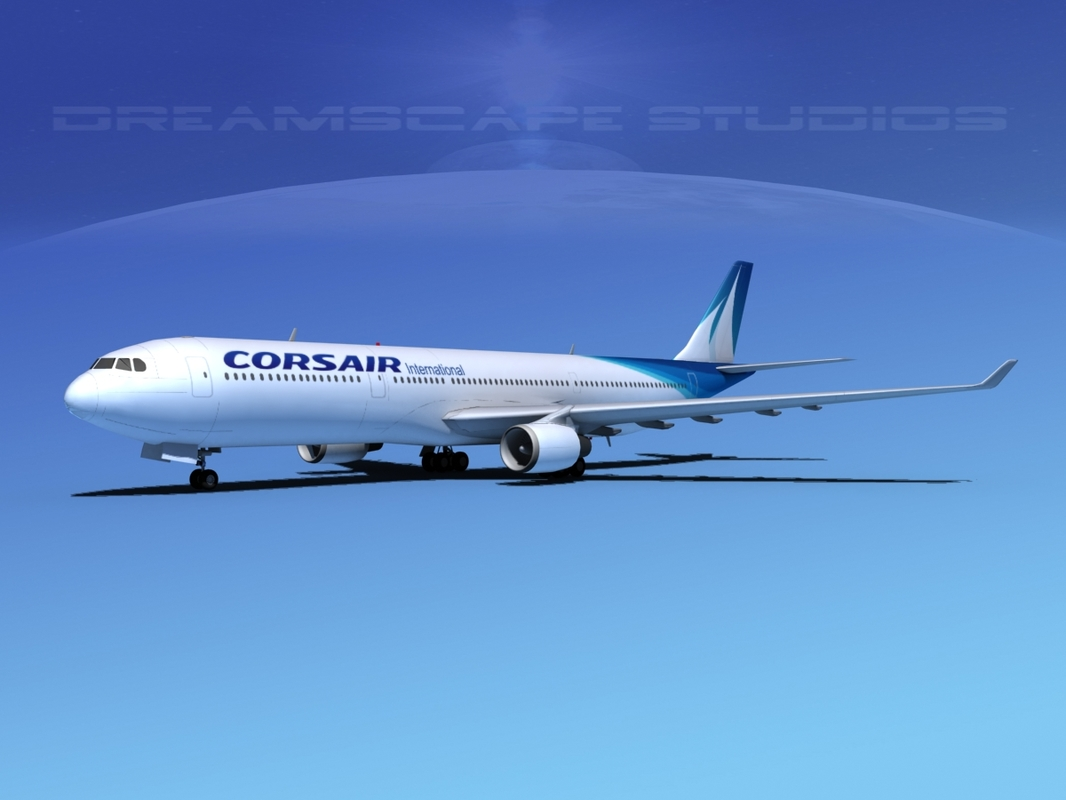 3d airbus a330-300 a330 airliners model