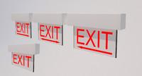 3d model exit light