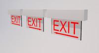 3d exit sign direction light