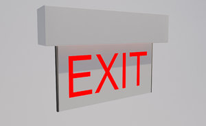 exit sign light 3ds