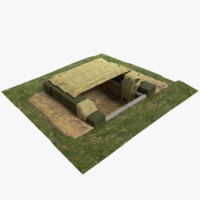 3d max fox hole bunker