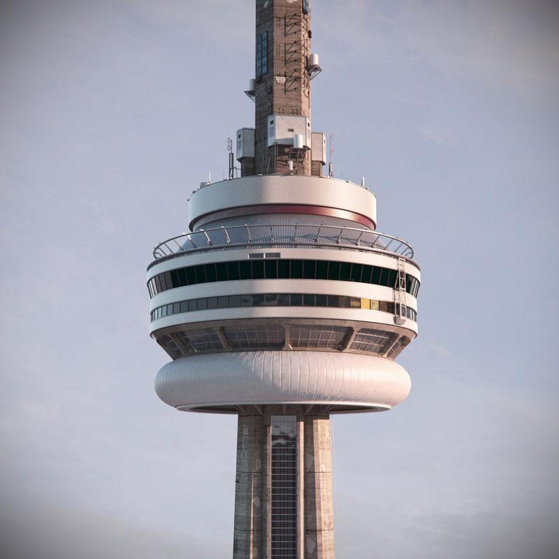 3d Model Toronto Cn Tower