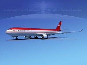 airbus a330-300 a330 3d model