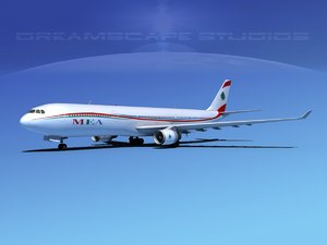 airbus a330-300 a330 3d max