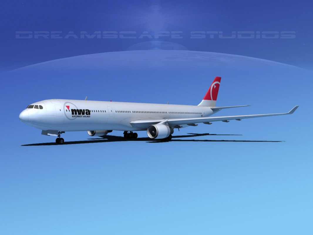 3d model airbus a330-300 a330 airliners