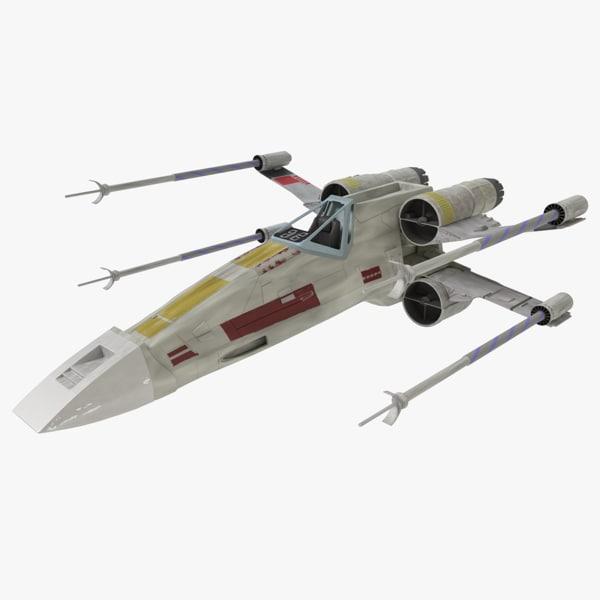 3d max star wars x-wing