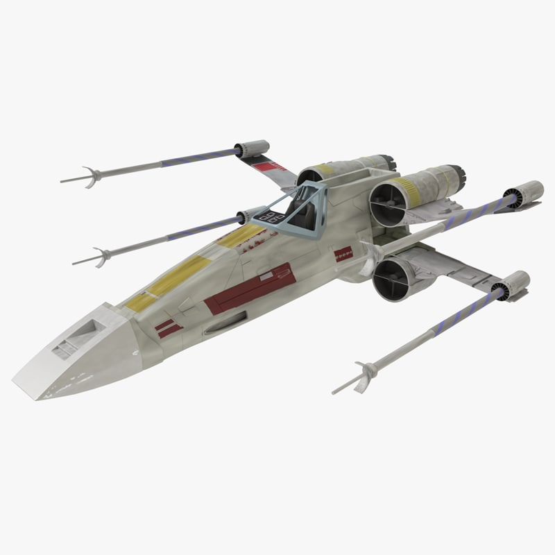 3d max star wars x-wing