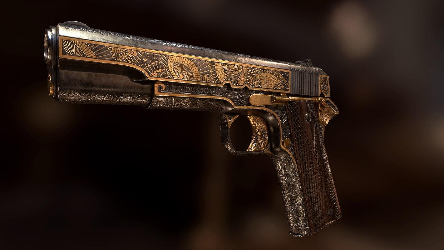 colt 1911 3d 3ds