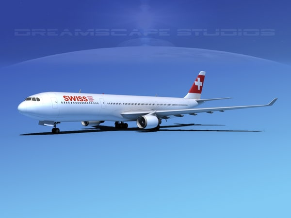 airbus a330-300 a330 3d dxf