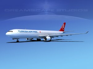 airbus a330-300 a330 airliners 3d 3ds