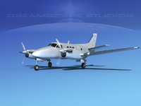 propellers beechcraft c100 king air 3d model