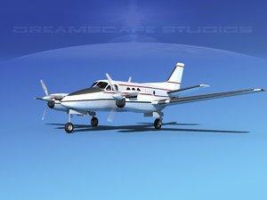 propellers beechcraft c100 king air 3d model