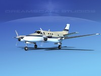 3d model of propellers beechcraft c100 king air