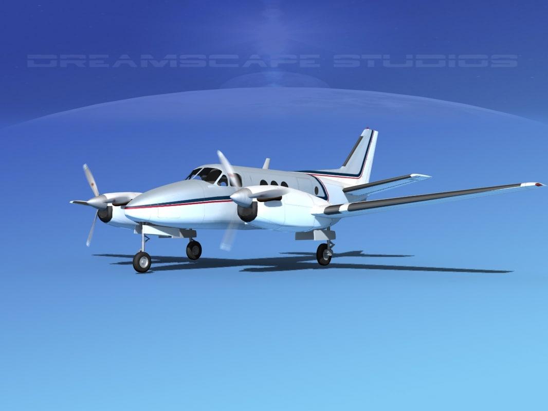 propellers beechcraft c100 king air 3d 3ds