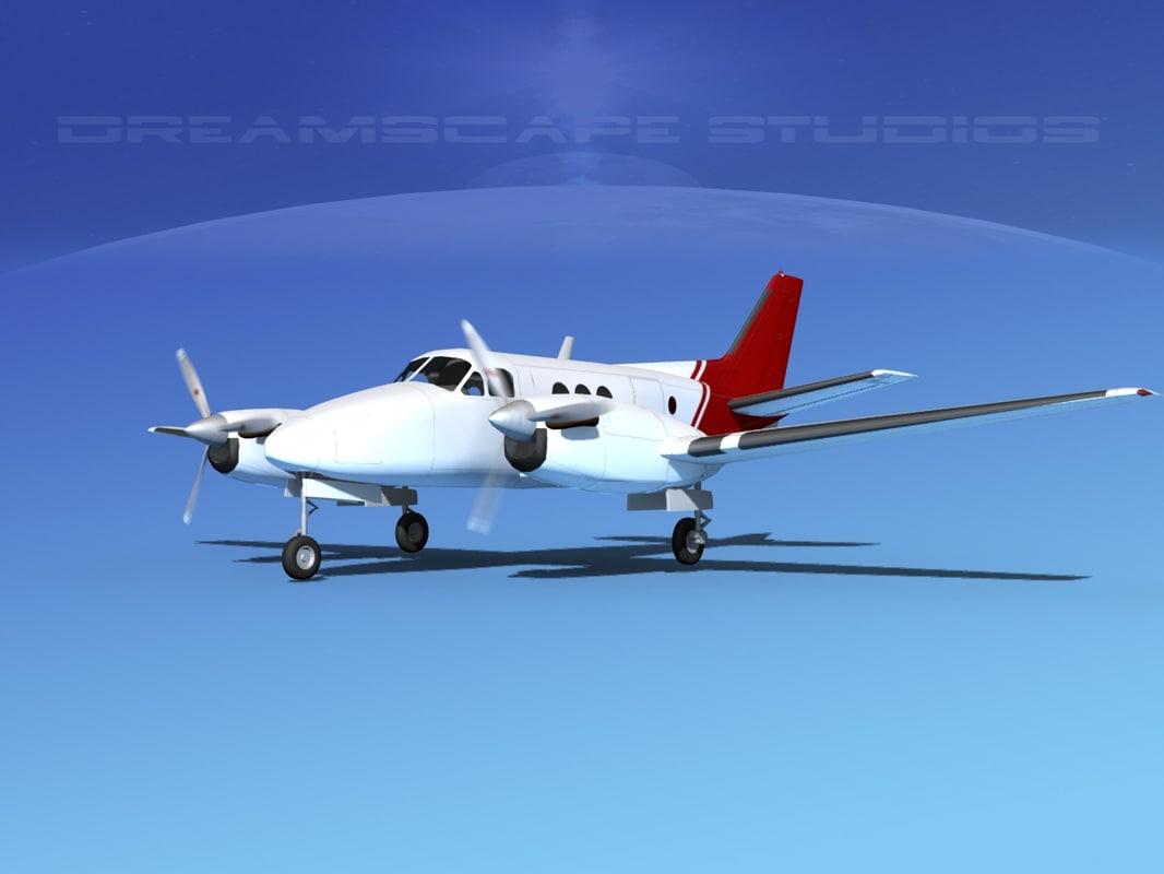 propellers beechcraft c100 king air 3d max