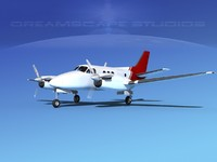 propellers beechcraft c100 king air 3d max