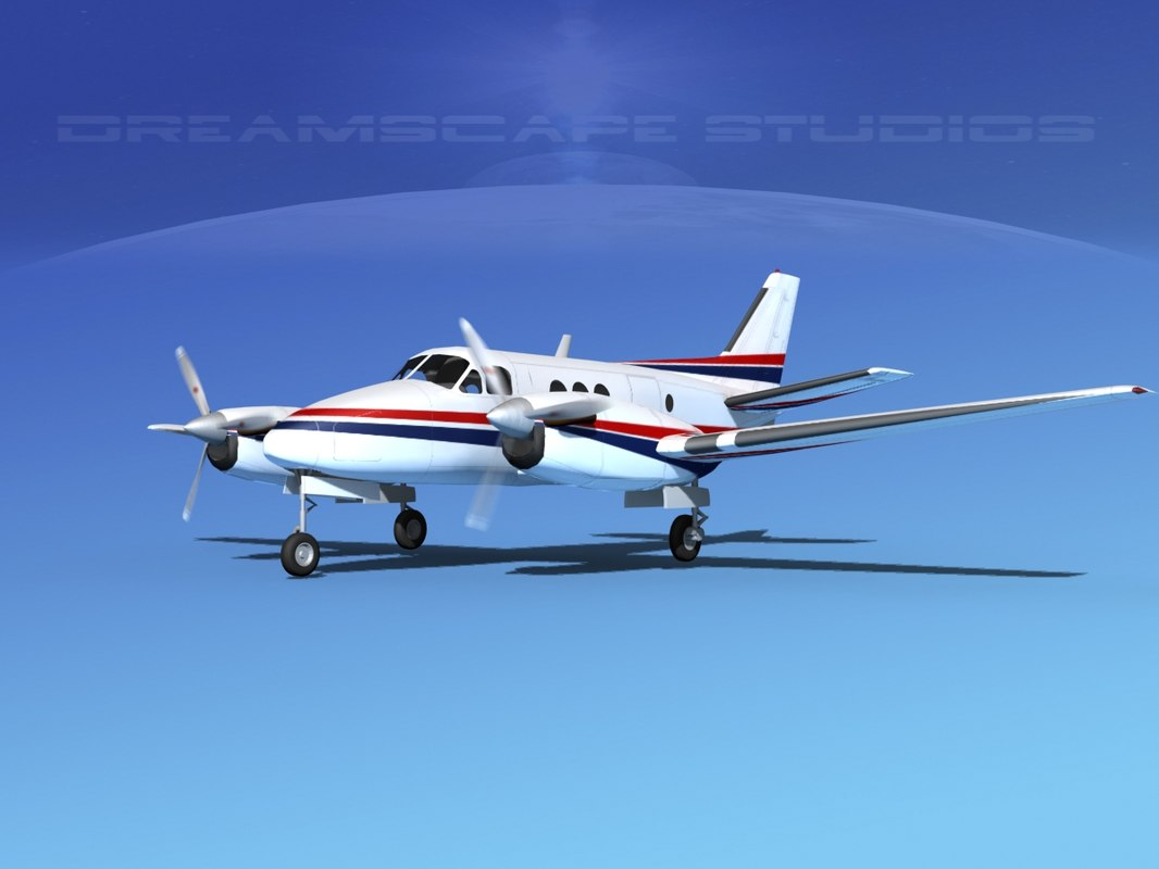 3d model propellers beechcraft c100 king air