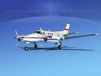 3d propellers beechcraft c100 king air model