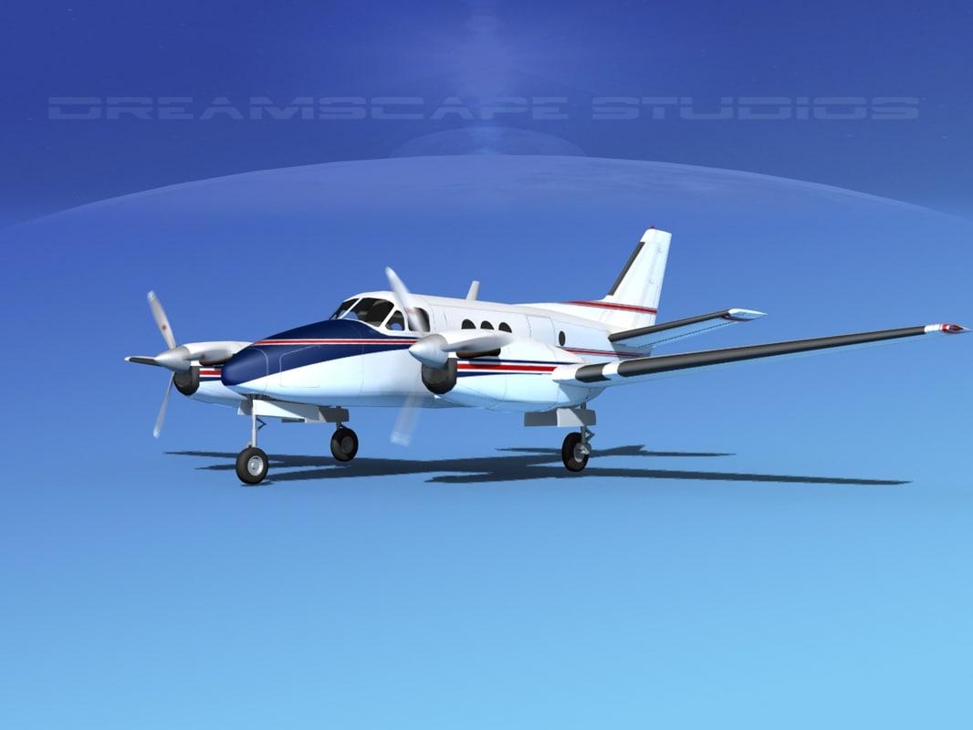 3d model of propellers beechcraft c100 king air