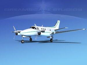 3d model propellers beechcraft c100 king air