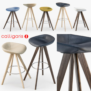 3d model of calligaris palm w stool