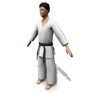 3d model karate character