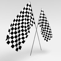 3d checkered flag race