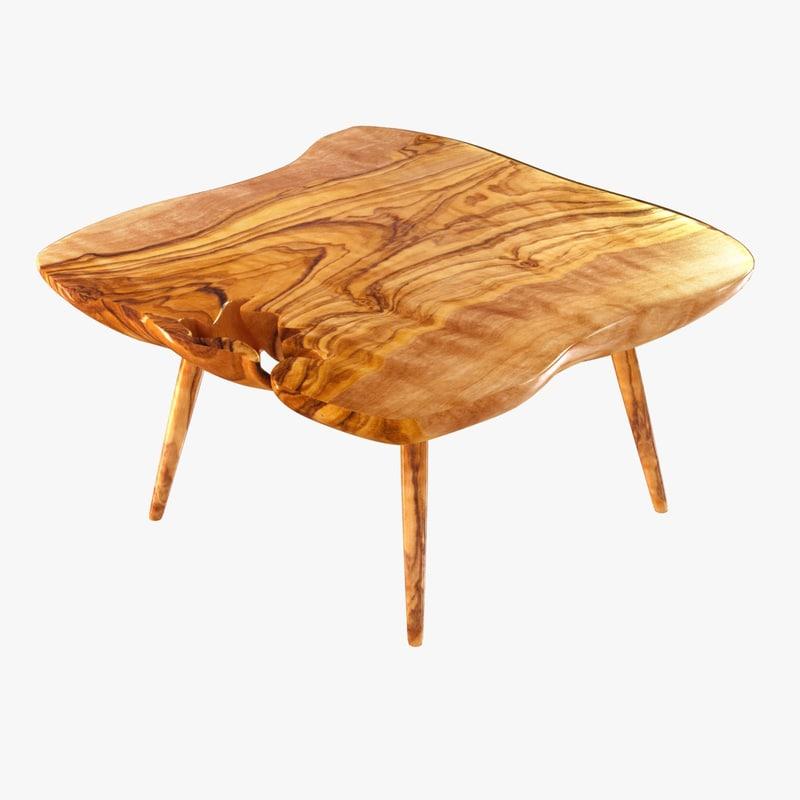 3d table wood slab