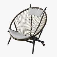 3d chair pp circle hans wegner