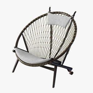 3d chair pp circle hans wegner