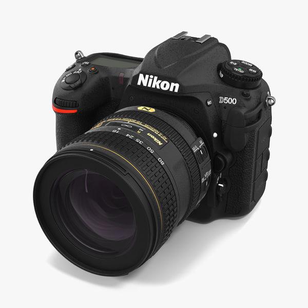 nikon d500 modeled 3d 3ds