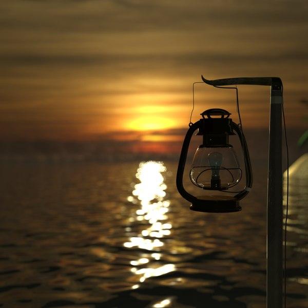 3d model beach lamp