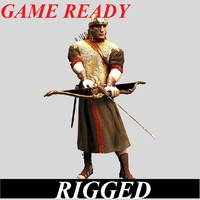 3d model archer man roman