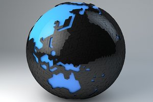 3d minimal design modern earth model